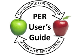 PER User's Guide - cwsei - University of British Columbia