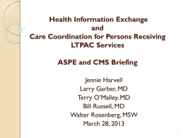Electronic Health Information Exchange Initiatives