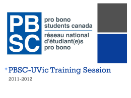Local Chapters - Pro Bono Students Canada
