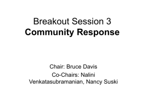 Breakout Session 3 Community Response