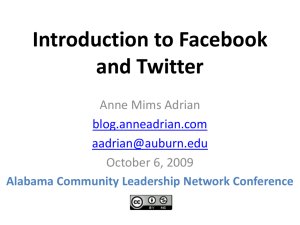 Introduction to Facebook and Twitter by Anne Mims Adrian