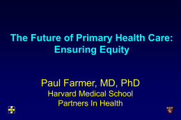 The Future of Primary Health Care