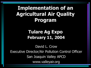 Agricultural Sources - San Joaquin Valley Air Pollution Control District