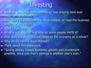 Financial Markets and Investing