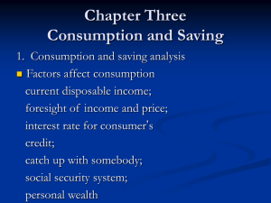 Lecture 3 Consumption Saving