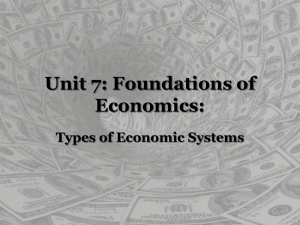 Types of Economic Systems Powerpoint Presentation