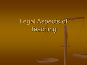 Legal Aspects of Teaching