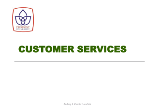 SCM – 3. Customer Services