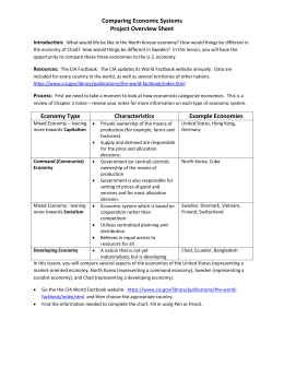 Comparative Systems Worksheet-II