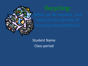 recycling powerpoint