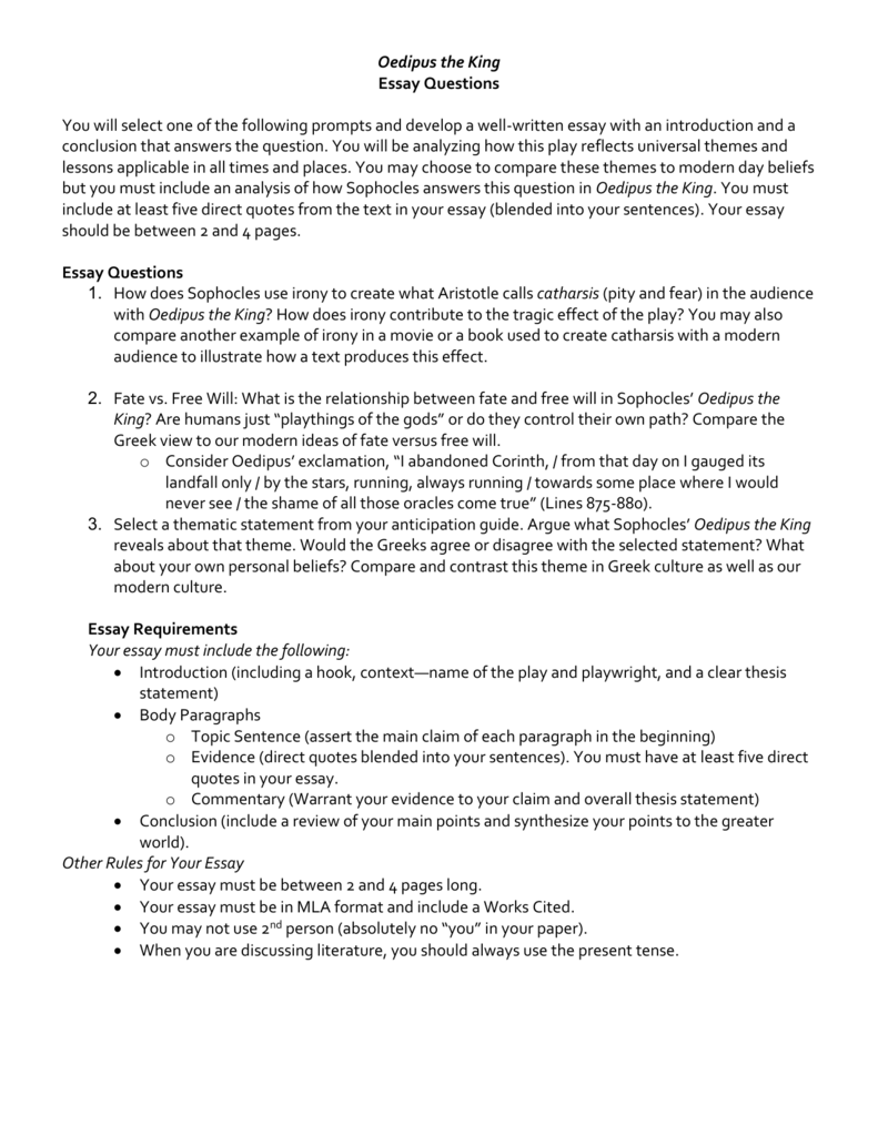 Featured Example Essay