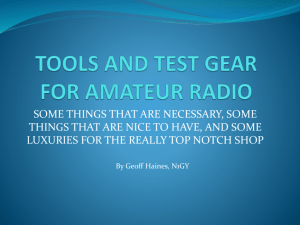 Tools And Test Gear For Amateur Radio – PPTX