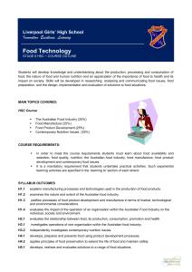 Food Technology Outline - Liverpool Girls' High School