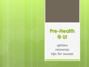 Pre-Health @ UI - Academic Advising Center