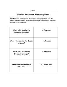 Native Americans Matching Game
