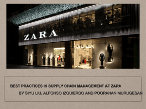 best practices in supply chain management at zara