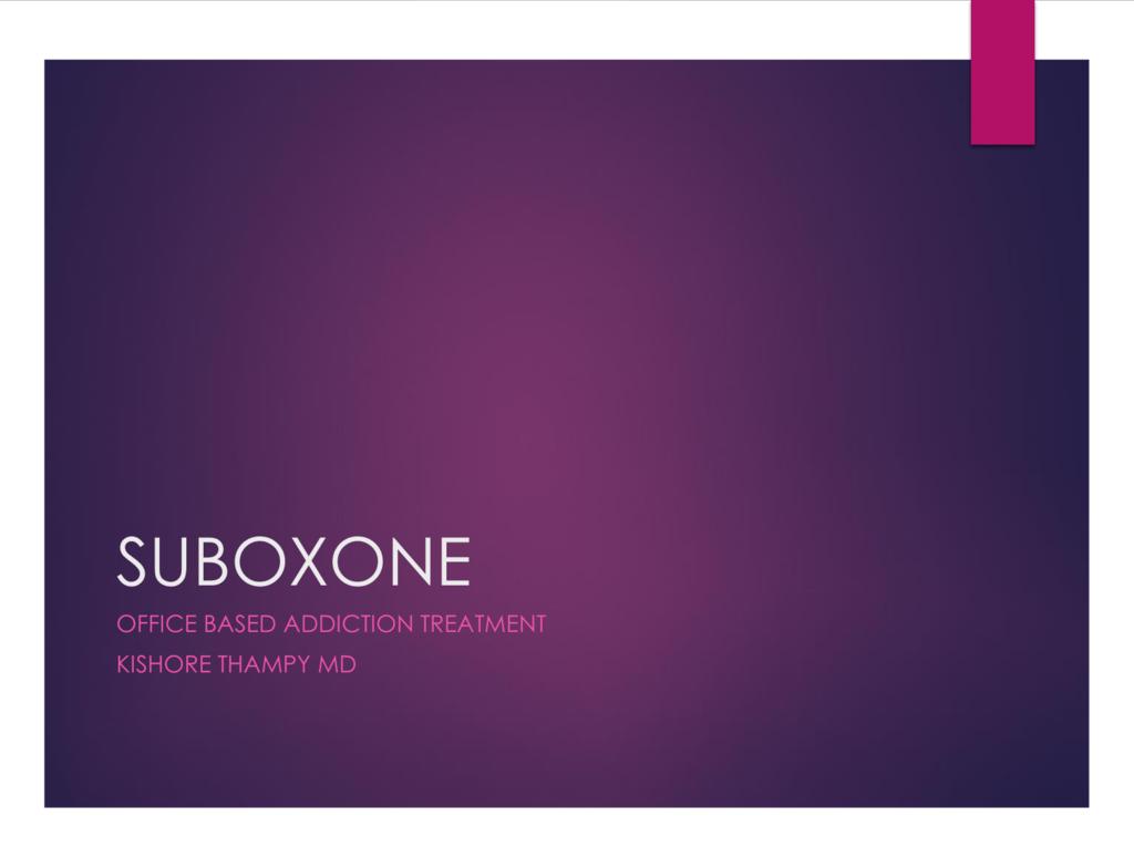 Suboxone Information