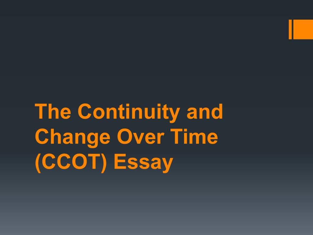 Ccot essays