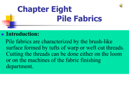 Chapter Eight Pile Fabrics Introduction