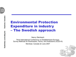 Environmental Protection Expenditure: Government and specialised