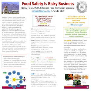 Food Safety is Risky Business - National Ag Risk Education Library