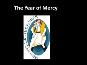 KS4 Assembly for Year of Mercy 2