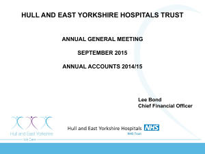 Chief Financial Officer - Hull and East Yorkshire Hospitals NHS Trust
