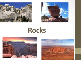 Rock Vocabulary - Schoolwires.net