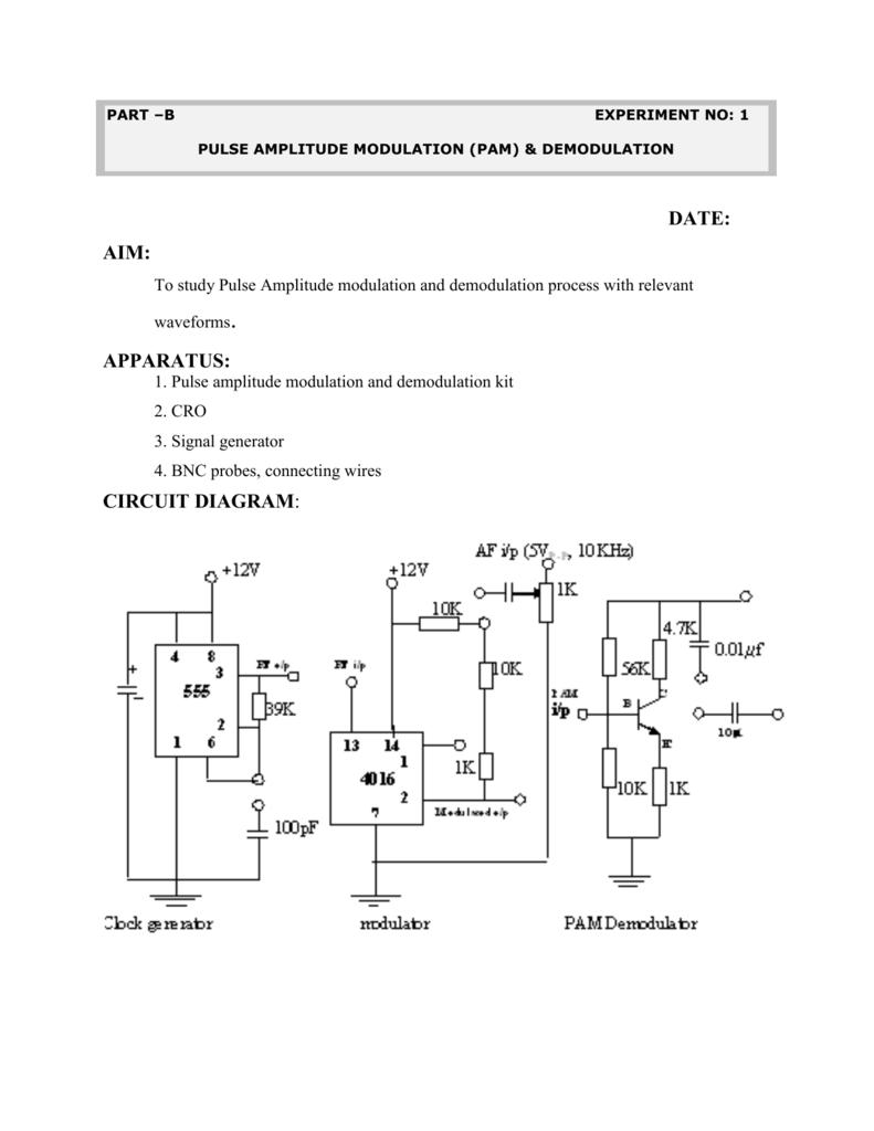 Ac Lab Notes Ii Part Pulse Position Modulation Ppm Circuit Design
