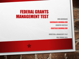 Grant Management Test for State and Local Educational Agencies