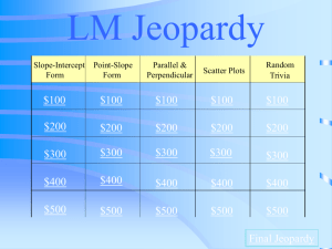 Jeopardy - Lower Moreland Township School District