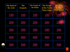 First Nations Jeopardy