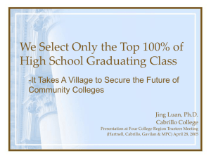 We Select Only The Top 100% Of High School Graduating Class