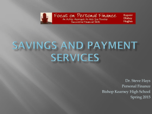 Savings and Payment Services
