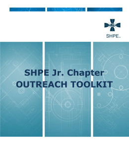 SHPE Jr. Chapter Outreach Toolkit