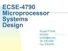 ECSE-4790 Microprocessor Systems
