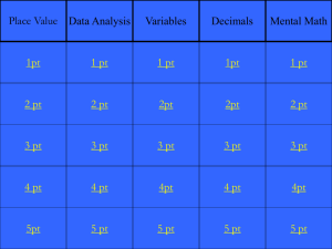Jeopardy Game Decimals - Littlemiamischools.org