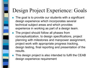 Design Project Experience