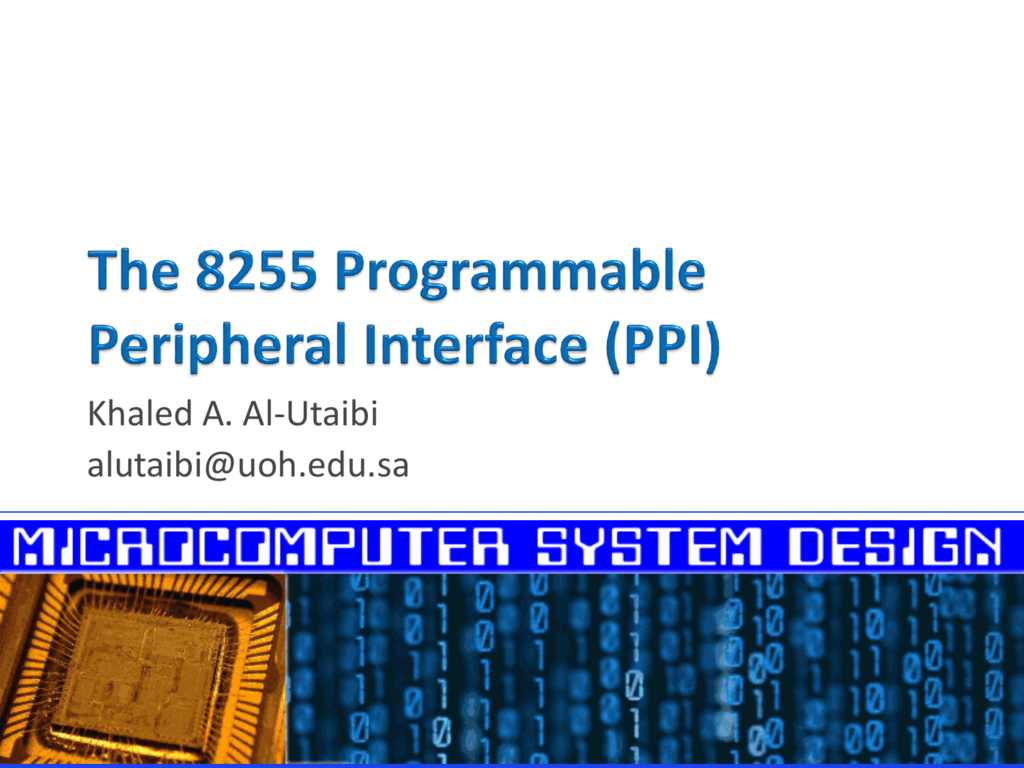 The 8255 programmable peripheral interface ppi ccuart Images