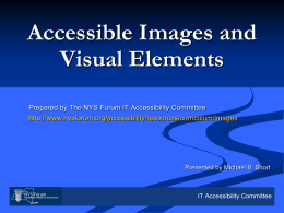 Accessible Images and Visual Elements