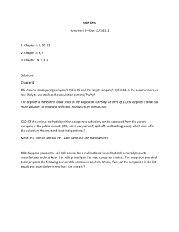 MBA 570x Homework 3 – Due 12/5/2012 1. Chapter 4: 5, 10, 12 2