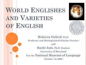 World Englishes - The National Museum of Language