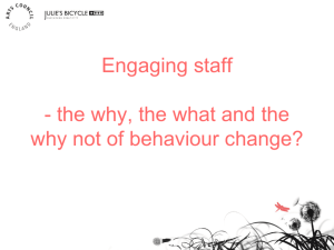 behavioural change and staff engagement