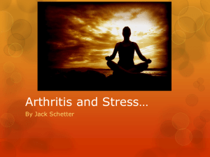 Arthritis and Stress*