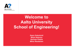 Getting started at Aalto ENG