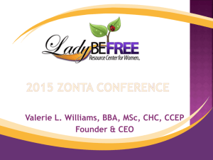 Valerie Williams - Zonta District 11
