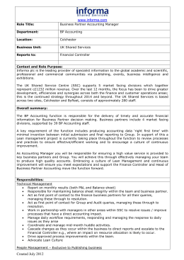 Towergate Financial Services (TFS) Role profile