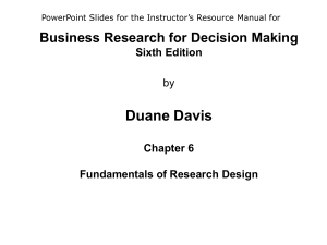 Business Research for Decision Making Sixth Edition