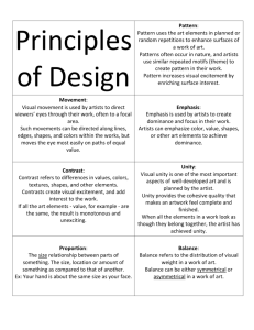Principles of Design, detailed