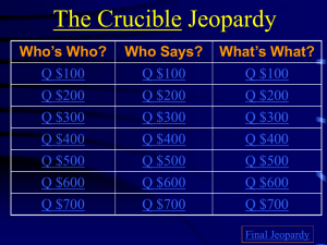 Jeopardy Review II